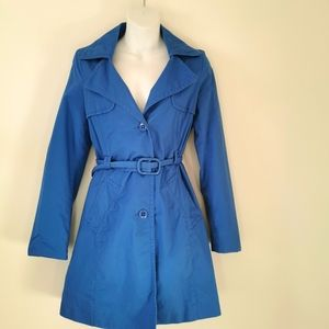Stile Benetton s 40 blue trench coat 100% cotton